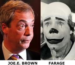 UKIP leader Nigel Farage looks like Joe E. Brown