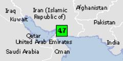 Green earthquake alert (magnitude 4.7M and depth 10km) in Iran 17/05/2013 14:45 UTC, 420000 people within 100km.