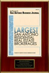 JBGoodwin, Realtors Selected For Largest San Antonio Residential Real Estate Brokerages